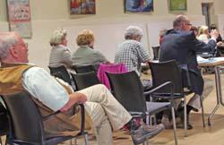Pressetisch in der letzten Stadtverordneten-Versammlung