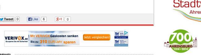 Werbung auf dem Werbeportal: ahrensburg24