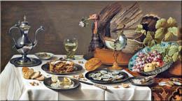 Pieter Claesz: Stillleben mit Truthahnpastete (1627)