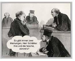 Rolf Schälike vor Gericht Zeichnung Honore Dumier
