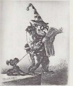 """""""Letzte Nchrichten"""" Lithographie von A. Paul Weber"""