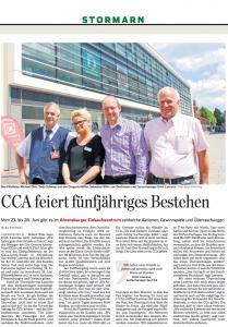 Frage: Warum stehen nur drei Mieter neben CCA-Manager Lawrenz? Und warum gerade diese? Und warum ist Horst Kienel nicht dabei...?