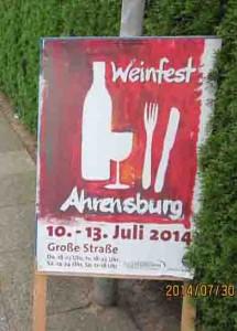 Schild Weinfest