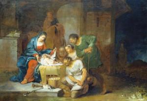 """""""Die Anbetung der Hirten"""" von Januarius Zick (1730 – 1797)"""