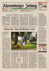 Als Ahrensburg noch eine Zeitung hatte, da war der Muschelläufer dort ein Thema