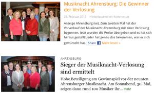 Zwei Beiträge: Bei ahrensburg24 als Anzeige gekennzeichnet, beim Hamburger Abendblatt nicht (Bild: HDZ)