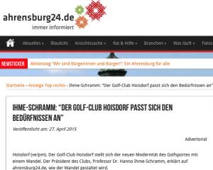 """ahrensburg24: Werbung getarnt als """"Advertorial"""" (Bild: HDZ)"""