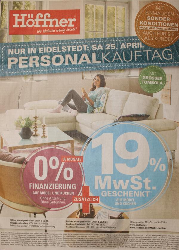 Höffner Mehrwertsteuer Am Finanzamt Vorbei Szene Ahrensburg