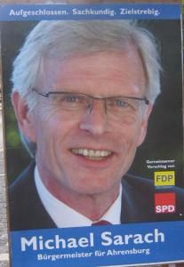 Wahlplakat Sarach