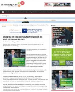 """Rechts unten die Anzeige von Jörg Hansen, links daneben sein redaktioneller Werbebeitrag, der nicht als """"Anzeige"""" gekennzeichnet ist, sondern als """"Gastbeitrag"""". Übler gehts gar nicht!"""
