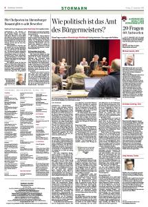Abbildung: Stormarn-Beilage im Hamburger Abendblatt