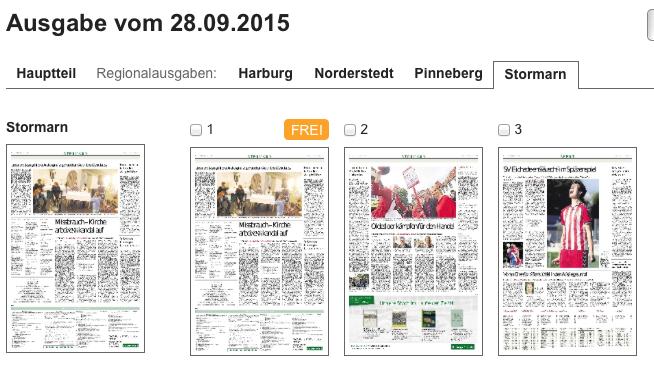 Stormarn-Beilage online: Die Seite 1 fehlt!