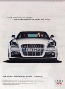audi-Werbung mit Harald Dzubilla am Lenkrad