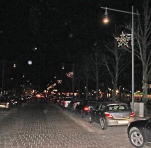 Ahrensburg, Große Straße am 28. Januar 2015