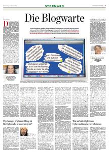 """""""Blogwarte"""" – Anlehnung an die Blockwarte aus der Nazi-Zeit (aus: Hamburger Abendblatt("""