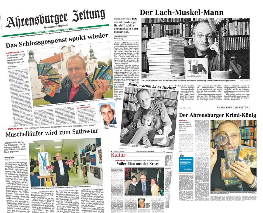 """Als die Stormarn-Beilage noch Ahrensburger Zeitung hieß, war ich redaktionell häufig im Blatt. Seit es Szene Ahrensburg bin, bin ich nicht mehr Harald Dzubilla, sondern bloß noch """"der Blogger""""!"""