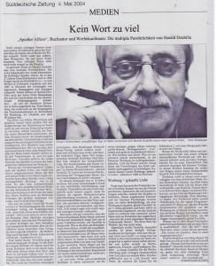 Harald Dzubilla – Porträt in der Süddeutschen Zeitung