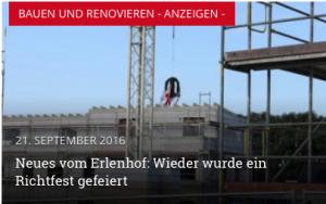Werbung für den Erlenhof (aus: ahrensburg24)