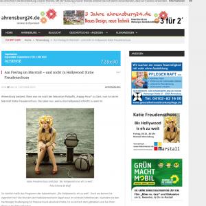 Rechts die Annonce, links ein redaktionell aufgemachter Werbetext, der nicht vorschriftsmäßig als  Anzeige gekennzeichnet ist! (aus: ahrensburg24)