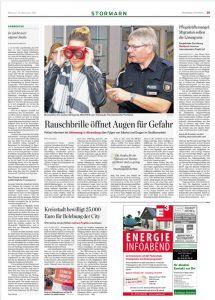 Aus Hamburger Abendblatt: Ellenlange Verteidigung (siehe Spalte links!) des Redaktionsleiters