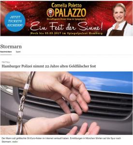 Aus Stormarn online vom Hamburger Abendblatt: Täter festgenommen, Reporter war dabei!