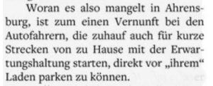 Klingel-Domdey im Hamburger Abendblatt